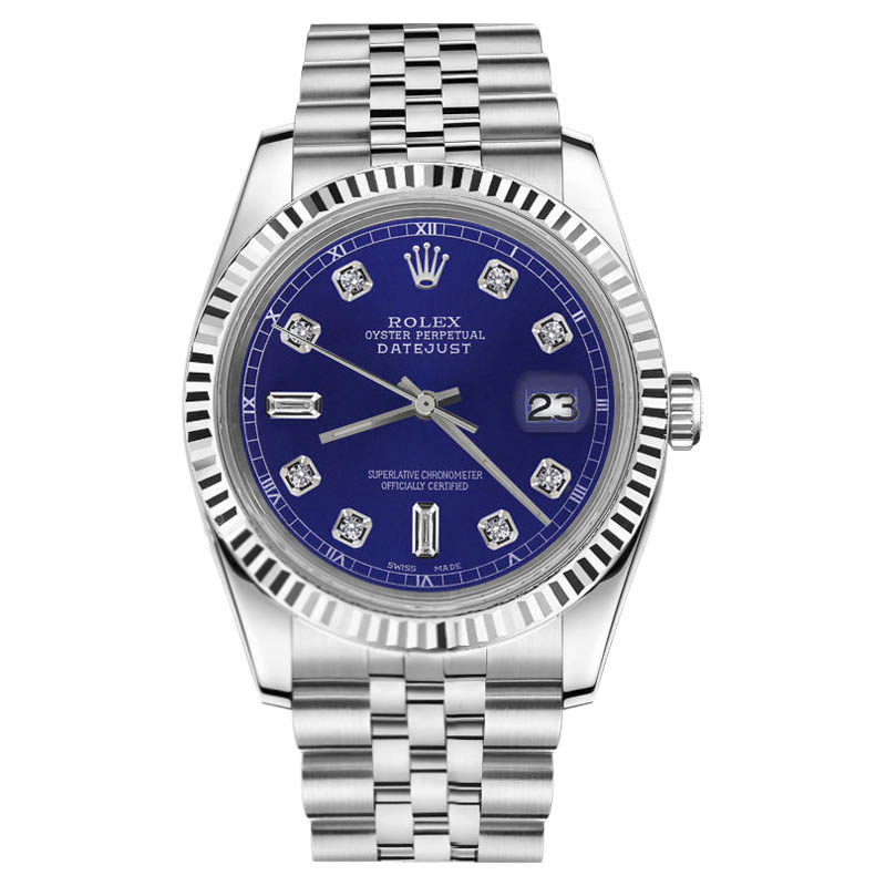 """Image of """"Rolex Datejust Stainless Steel With Blue Diamond Dial 31mm Unisex"""""""