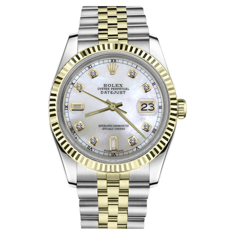 """Image of """"Rolex Datejust Stainless Steel/ 18K Gold White MOP Mother Of Pearl w"""""""