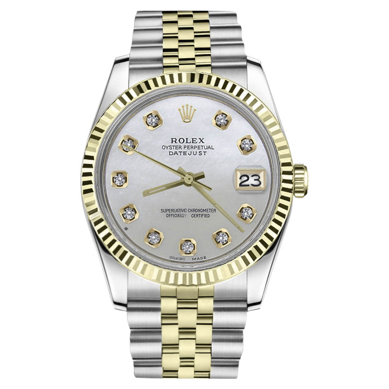 """Image of """"Rolex Datejust Stainless Steel/ 18K Gold White Mother Of Pearl Dial"""""""