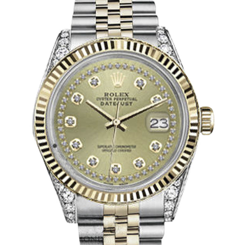 """Image of """"Rolex Datejust Stainless Steel & 18K Yellow Gold Champagne String"""""""