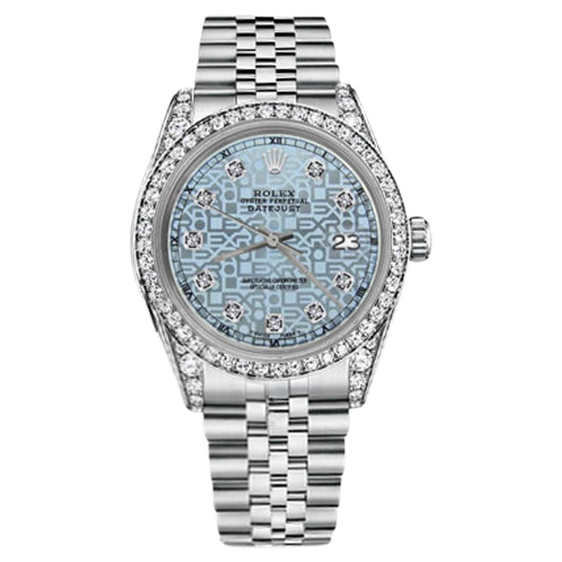 "Image of ""Rolex Datejust Stainless Steel Jubilee Ice Blue Diamond Dial 31mm"""