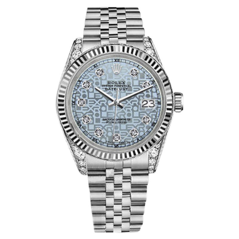 "Image of ""Rolex Datejust Steel Stainless Steel Jubilee Ice Blue Face Dial With"""