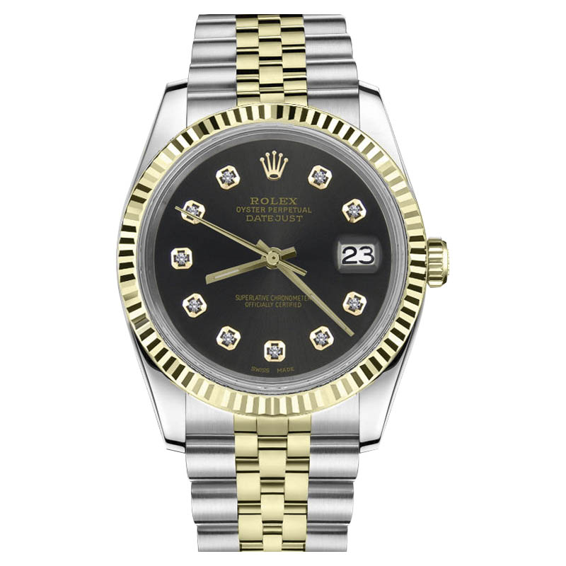 """Image of """"Rolex Datejust Two Tone 18K Gold/ Stainless Steel Chocolate Brown"""""""
