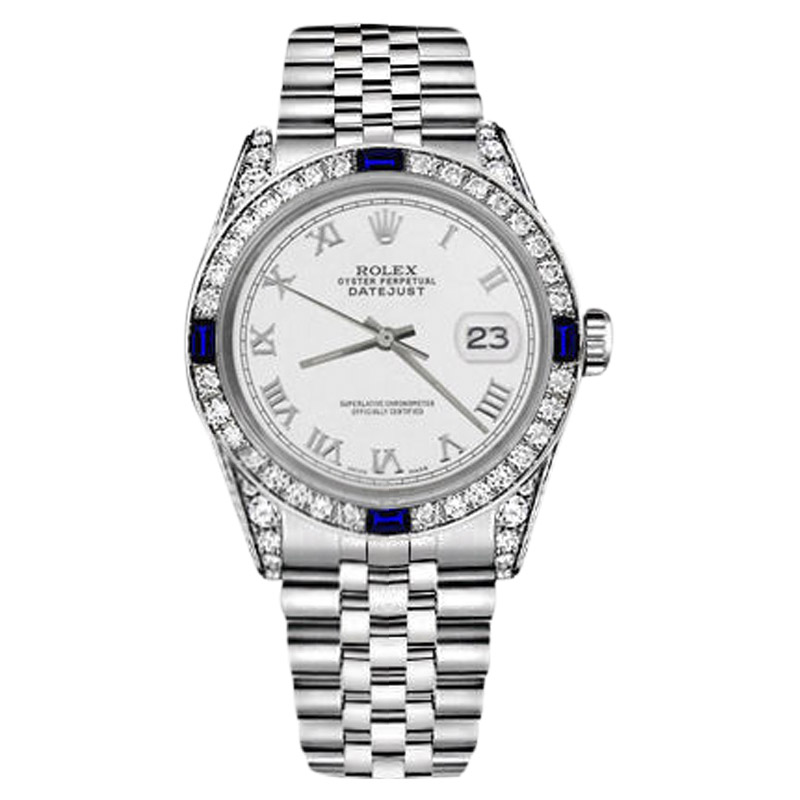 "Image of ""Rolex Datejust Stainless Steel White Color Roman Numeral Dial Sapphire"""