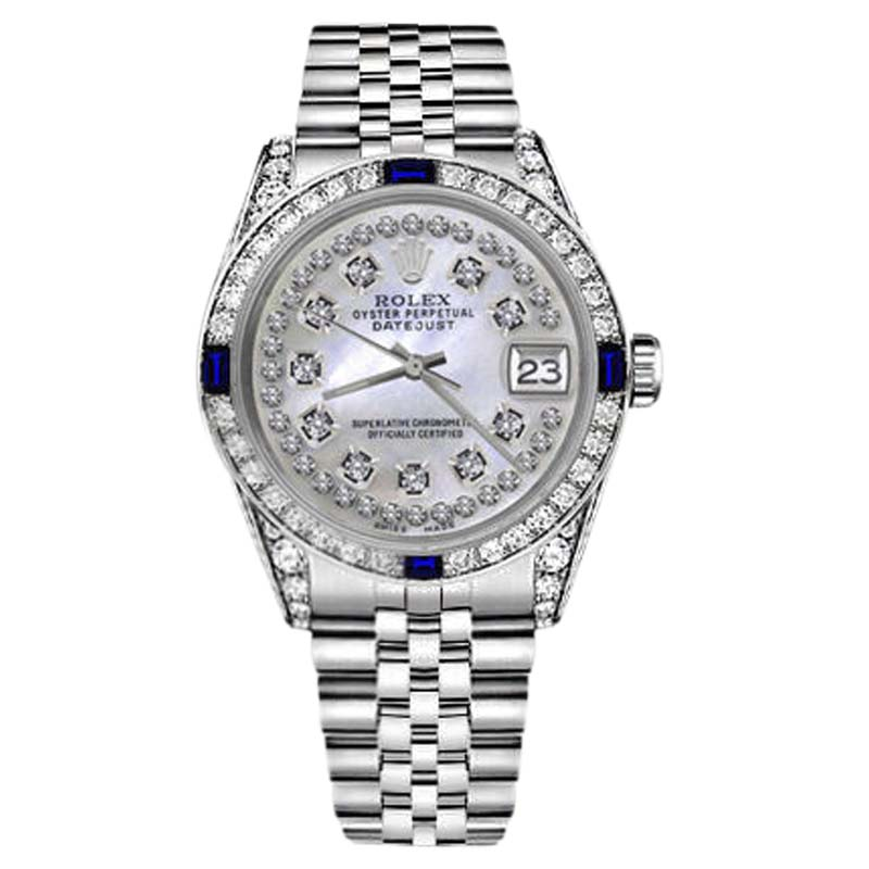 "Image of ""Rolex Datejust Stainless Steel White Mother Of Pearl Dial With"""