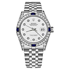 Rolex Datejust Stainless Steel White Color Dial With Sapphire & Diamond 26mm Womens Watch