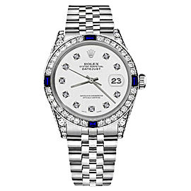Rolex Datejust Stainless Steel White Color Dial With Sapphire & Diamond 31mm Womens Watch