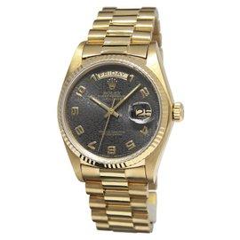 Rolex Day-Date 18038 18K Yellow Vintage 36mm Mens Watch