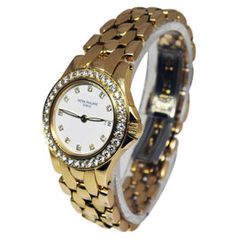 Patek Philippe Neptune 18K Yellow Gold 27mm Womens Watch