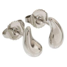 Tiffany & Co. 950 Platinum Elsa Peretti Teardrop Earrings