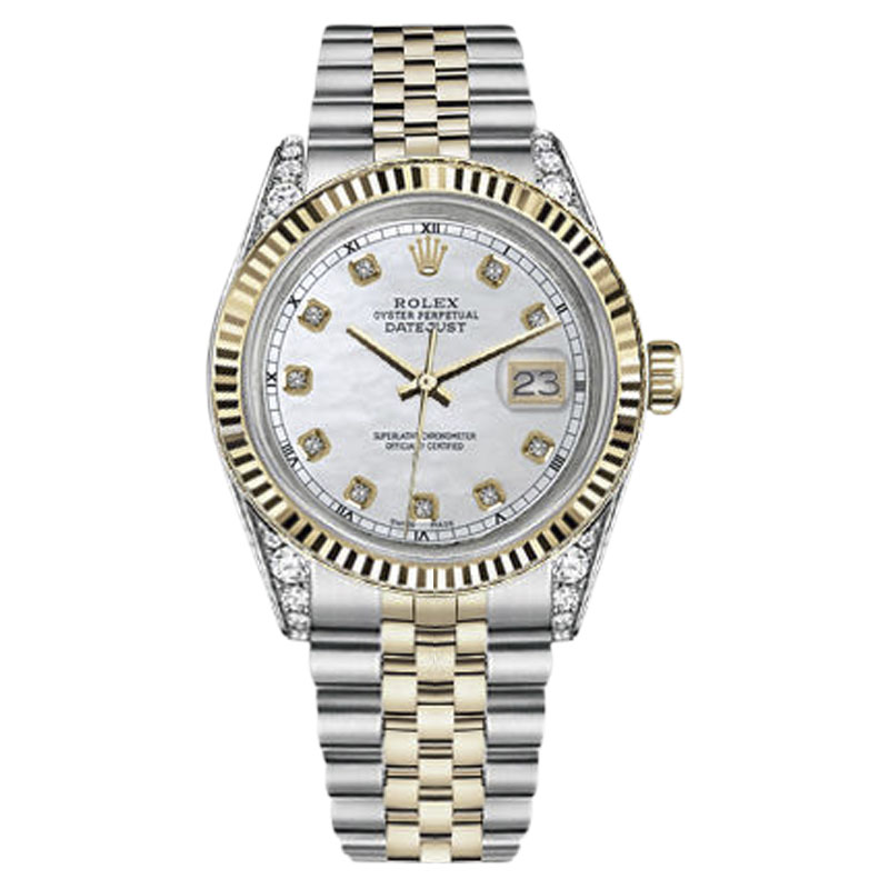 "Image of ""Rolex Datejust Stainless Steel/ 18K Gold MOP Mother of Pearl Diamond"""