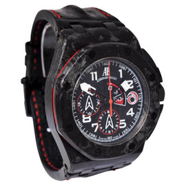 Audemars Piguet Offshore Alinghi 26062FS.OO.A002CA.01 Carbon & Leather Chronograph 44mm Mens Watch