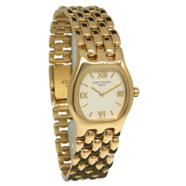 Patek Philippe 4850/1 18K Yellow Gold Quartz 26mm x 34mm Womens Watch