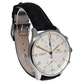 IWC Portuguese IW3714 Stainless Steel / Leather 40mm Mens Watch