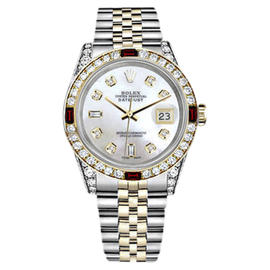 Rolex Datejust Stainless Steel and 18K Yellow Gold with White Dial 26mm Womens Watch