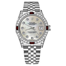 Rolex Datejust Stainless Steel with White Dial 36mm Womens Watch