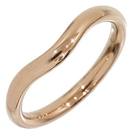 Tiffany & Co. 18K Rose Gold Elsa Peretti Curved Wedding Ring Size 4.25