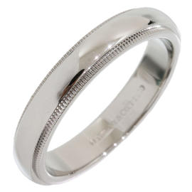 Tiffany & Co. 950 Platinum Milgrain Wedding Band Ring Size 9