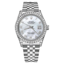 Rolex Datejust Stainless Steel With White Mother Of Pearl Dial 26mm Unisex Watch