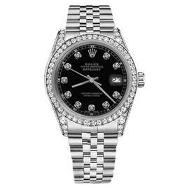 Rolex Datejust Stainless Steel Black Diamonds Dial Jubilee Bracelet 26mm Womens Watch