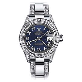 Rolex Datejust Stainless Steel with Blue Dial 31mm Womens Watch
