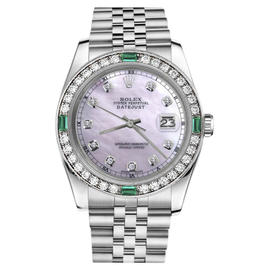 Rolex Datejust Stainless Steel with Pink Mother Of Pearl Dial 36mm Womens Watch