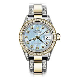 Rolex Datejust Stainless Steel / 18K Yellow Gold with Baby Blue Dial 26mm Womens Watch