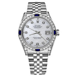 Rolex Datejust Stainless Steel and White Mother Of Pearl Dial 31mm Womens Watch