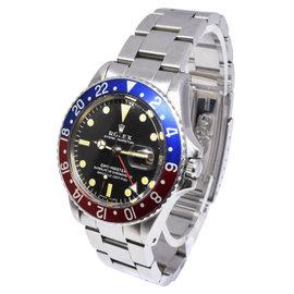 Rolex GMT-Master 1675 Steel Pepsi Red/Blue 1967 40mm Mens Vintage Watch