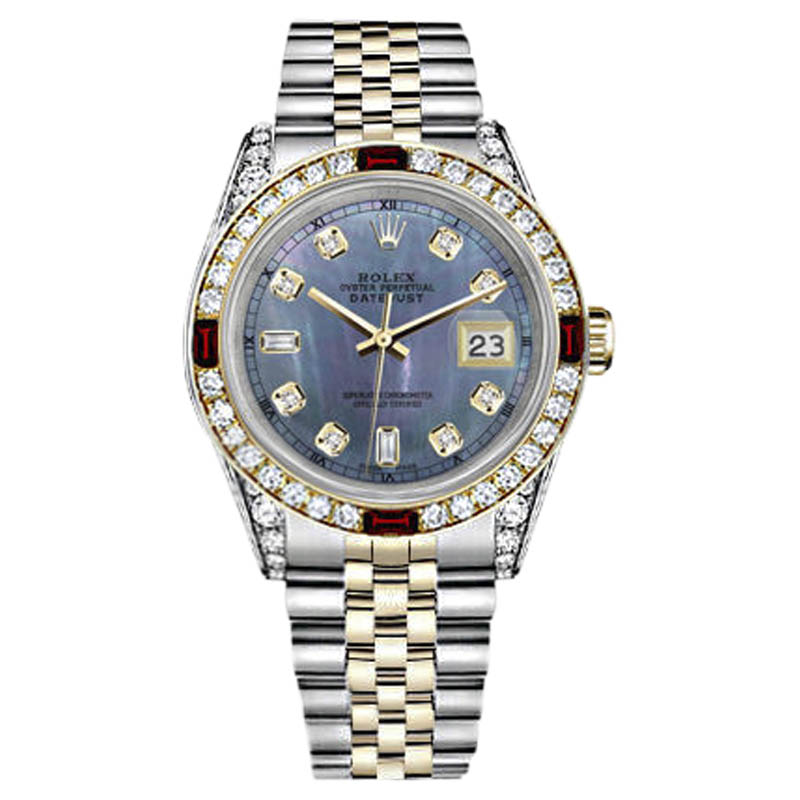 """Image of """"Rolex Datejust 18K Yellow Gold and Stainless Steel with Tahitian"""""""