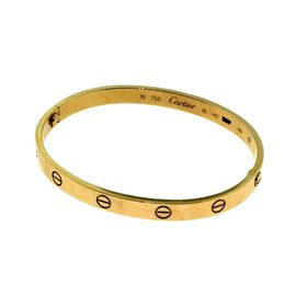 Cartier Love 18K Rose Gold Bangle Bracelet Size 19