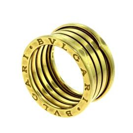 Bulgari B.zero 1 18K Yellow Gold 4 Band Ring Size 9