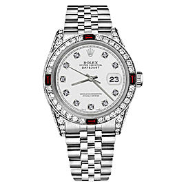 Rolex Datejust Stainless Steel With White Dial 31mm Womens Watch