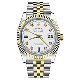 Rolex Datejust Stainless Steel / 18K Gold with White Dial 31mm Womens Watch