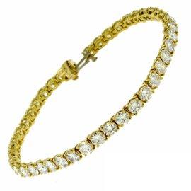 Van Cleef & Arpels 18K Yellow Gold & Diamond Tennis Bracelet