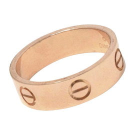 Cartier Love 18K Rose Gold Ring Size 7.25