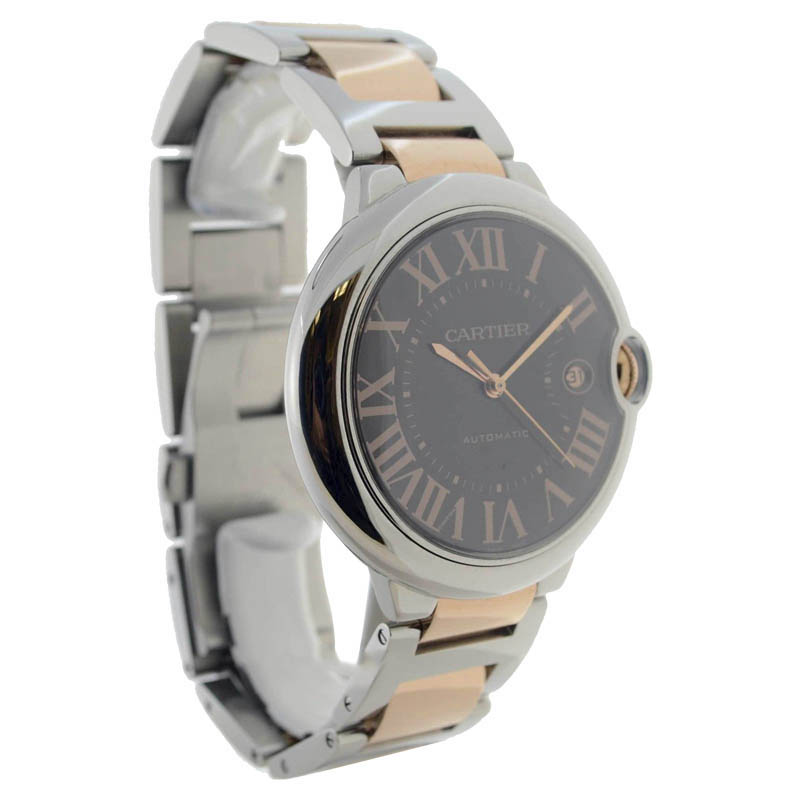 """Image of """"Cartier Ballon Bleu W6920032 18K Rose Gold & Stainless Steel Automatic"""""""