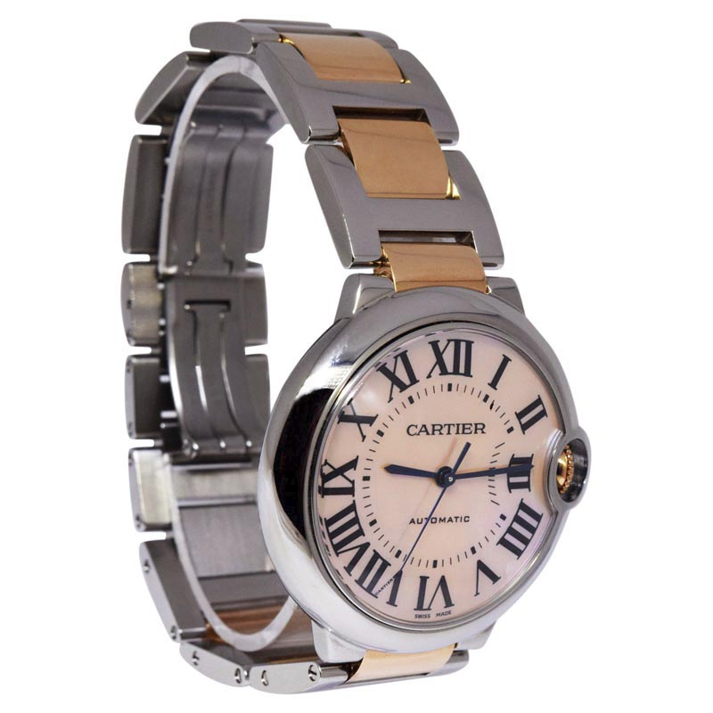"""Image of """"Cartier Ballon Bleu W6920033 Stainless Steel & 18K Rose Gold Automatic"""""""