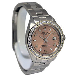 Rolex Date 6916 Stainless Steel and 14K White Gold Automatic Vintage 26mm Womens Watch
