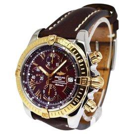 Breitling Chronomat Evolution C13356 18K Rose Gold & Stainless Steel 43.7mm Mens Watch