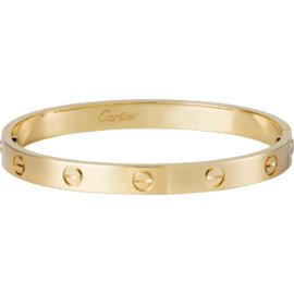 Cartier Love Yellow Gold Bracelet Size 19