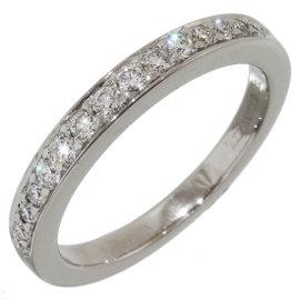 Tiffany & Co. 950 Platinum & Diamonds Half Eternity Ring Size 4.5
