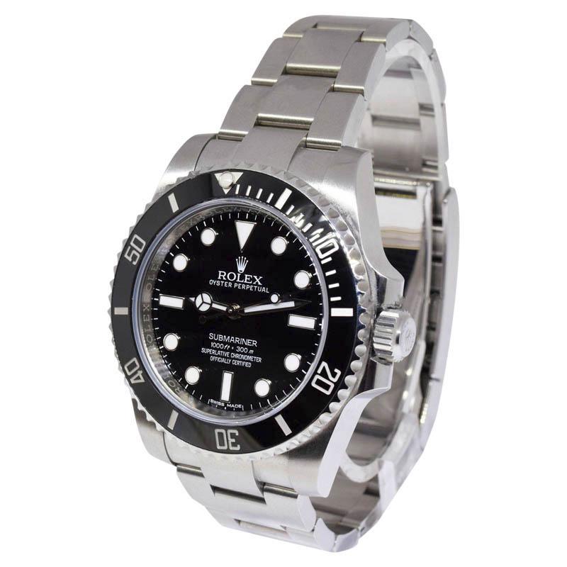 "Image of ""Rolex Submariner 114060 Stainless Steel & Ceramic 40mm Mens Watch"""