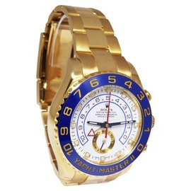 Rolex Yacht-Master II 116688 18K Yellow Gold wBlue Ceramic Bezel Automatic 44mm Mens Watch