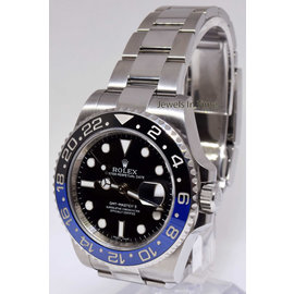 Rolex GMT-Master II 116710BLNR Stainless Steel Black/Blue Ceramic Bezel Automatic 40mm Mens Watch