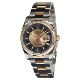 Rolex Datejust 116201 18K Rose Gold / Stainless Steel Automatic 36mm Mens Watch