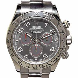 Rolex Daytona 116509 18K White Gold Gray Dial Automatic 40mm Mens Watch