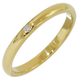 Tiffany & Co. Elsa Peretti 18K Yellow Gold with Diamond Ring Size 9.5