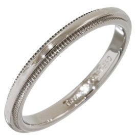 Tiffany & Co. Platinum Milgrain Wedding Band Ring 4.75