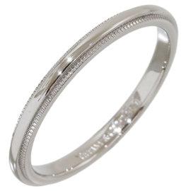 Tiffany & Co. Platinum Milgrain Wedding Band Ring Size 7.25